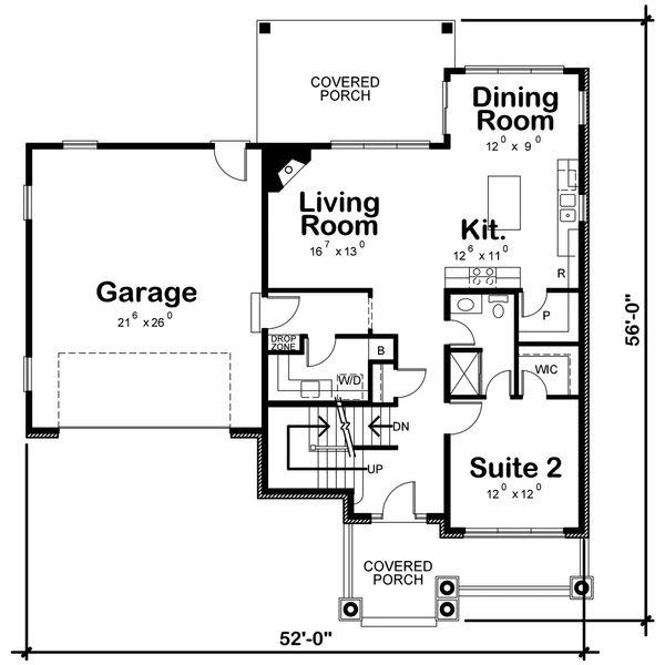Traditional Floor Plan - Main Floor Plan Plan #20-2319
