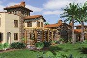 Mediterranean Style House Plan - 5 Beds 5 Baths 6484 Sq/Ft Plan #48-361