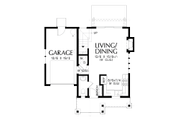 Cottage Style House Plan - 2 Beds 1.5 Baths 803 Sq/Ft Plan #48-1010 Floor Plan - Main Floor
