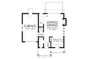 Cottage Style House Plan - 2 Beds 1.5 Baths 803 Sq/Ft Plan #48-1010 Floor Plan - Main Floor
