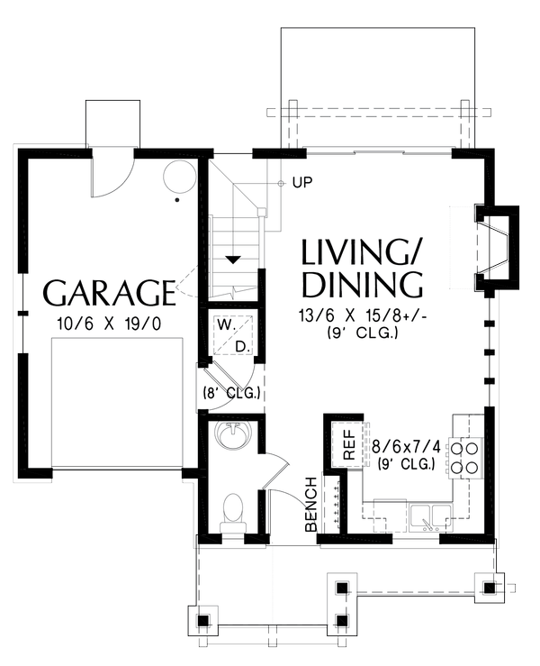 Dream House Plan - Cottage Floor Plan - Main Floor Plan #48-1010