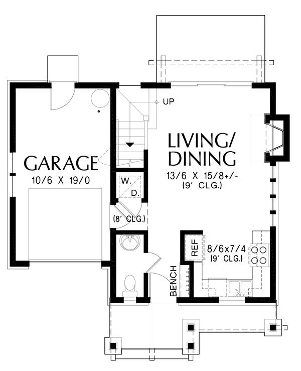Cottage Floor Plan - Main Floor Plan #48-1010