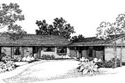 Ranch Style House Plan - 3 Beds 1 Baths 2000 Sq/Ft Plan #303-191 Exterior - Front Elevation
