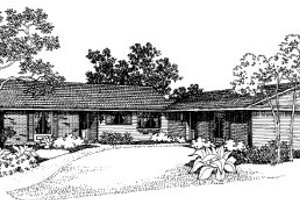 Ranch Exterior - Front Elevation Plan #303-191