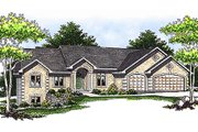 Mediterranean Style House Plan - 5 Beds 2.5 Baths 2585 Sq/Ft Plan #70-414 Exterior - Front Elevation