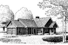 Cottage Exterior - Front Elevation Plan #410-164