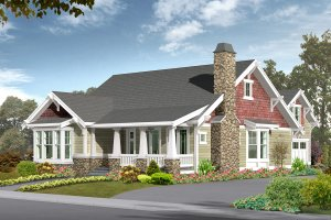 Craftsman Exterior - Front Elevation Plan #132-113