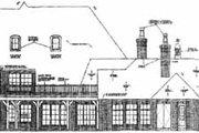 European Style House Plan - 5 Beds 5.5 Baths 6249 Sq/Ft Plan #310-353 Exterior - Rear Elevation