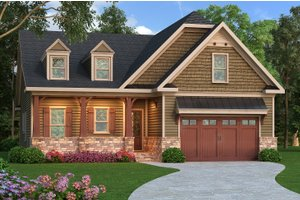 Dream House Plan - Craftsman Exterior - Front Elevation Plan #419-253