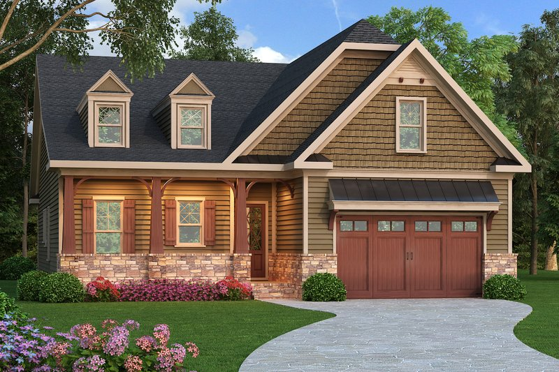 Craftsman Exterior - Front Elevation Plan #419-253
