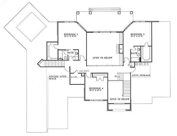Dream House Plan - European Floor Plan - Upper Floor Plan #17-256