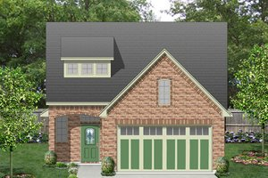 European Exterior - Front Elevation Plan #84-566