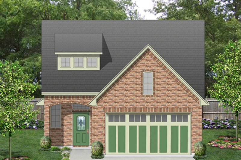 European Style House Plan - 3 Beds 2.5 Baths 1863 Sq/Ft Plan #84-566 Exterior - Front Elevation