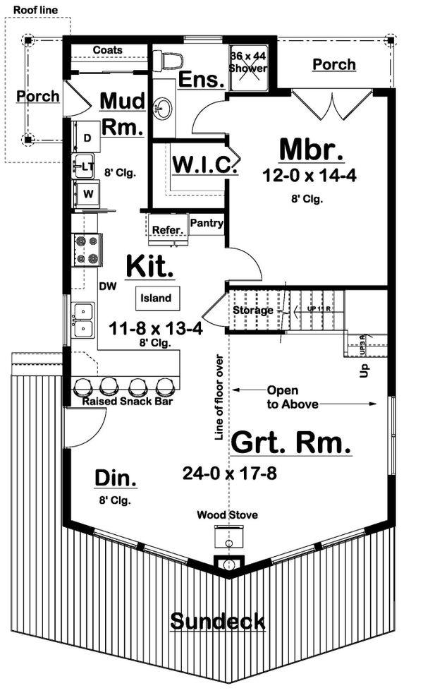 Country Floor Plan - Main Floor Plan #126-223