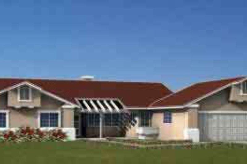 Adobe / Southwestern Style House Plan - 4 Beds 3 Baths 2117 Sq/Ft Plan #1-902