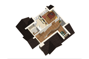 Cabin Style House Plan - 3 Beds 1 Baths 3256 Sq/Ft Plan #25-4737 Floor Plan - Upper Floor Plan