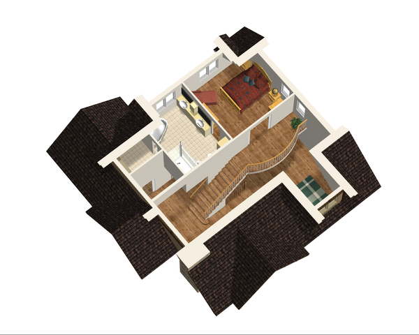 Cabin Floor Plan - Upper Floor Plan Plan #25-4737