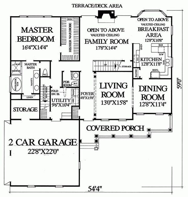 Victorian Floor Plan - Main Floor Plan Plan #137-164
