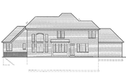 European Style House Plan - 5 Beds 3.5 Baths 3168 Sq/Ft Plan #46-349 Exterior - Rear Elevation
