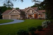 Craftsman Style House Plan - 4 Beds 3.5 Baths 4427 Sq/Ft Plan #51-556 Exterior - Front Elevation
