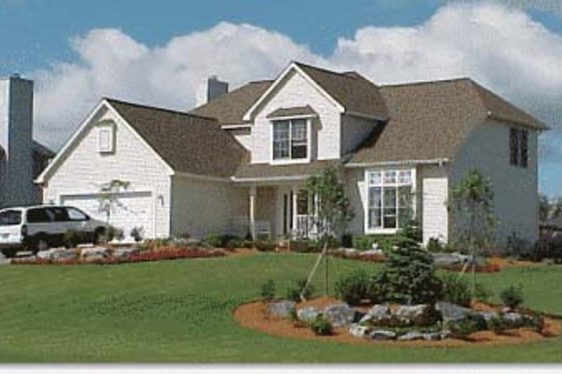 Traditional Exterior - Front Elevation Plan #20-709 - Houseplans.com