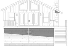 Architectural House Design - Contemporary Exterior - Rear Elevation Plan #932-350