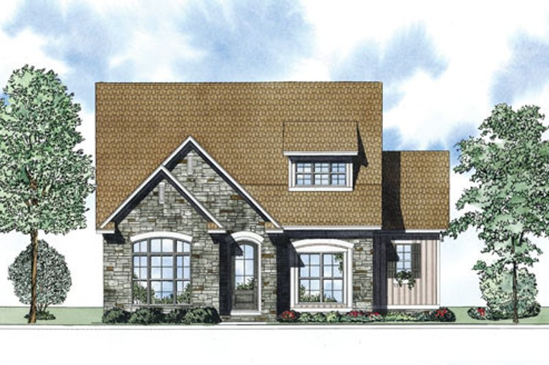 European Exterior - Front Elevation Plan #17-2412