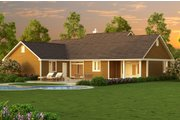 Ranch Style House Plan - 3 Beds 2 Baths 1820 Sq/Ft Plan #18-4512 Exterior - Other Elevation