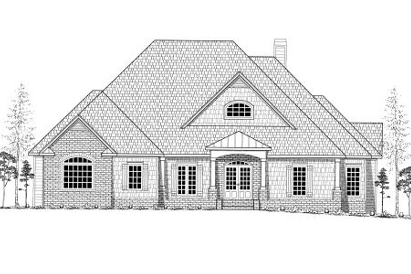 European Exterior - Other Elevation Plan #437-41 - Houseplans.com