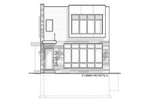 Architectural House Design - Contemporary Exterior - Front Elevation Plan #928-296