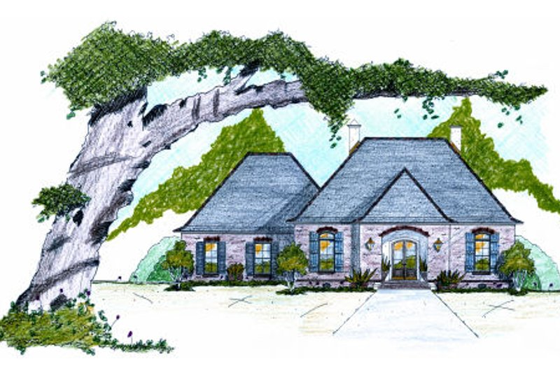 European Exterior - Front Elevation Plan #36-484