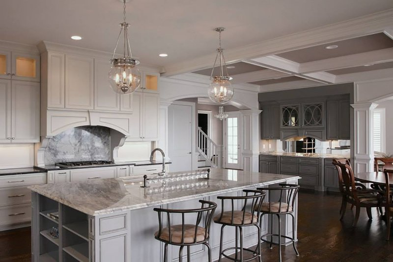 Colonial Interior - Kitchen Plan #437-57 - Houseplans.com