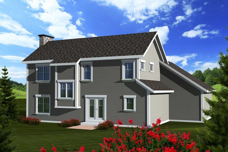 Craftsman Exterior - Rear Elevation Plan #70-1133 - Houseplans.com