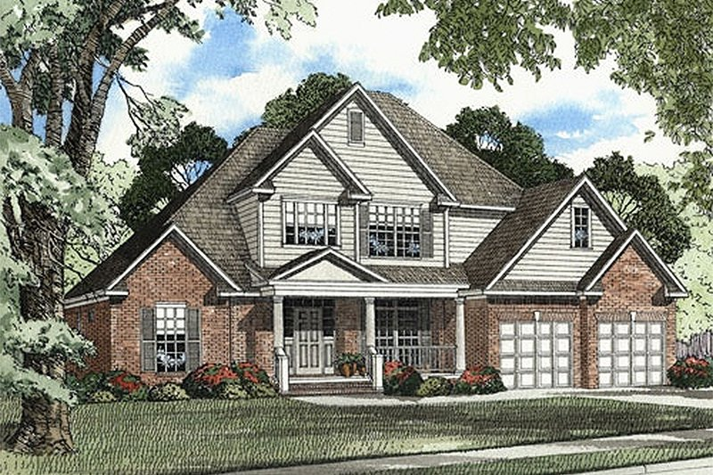 Architectural House Design - Traditional Exterior - Front Elevation Plan #17-2045