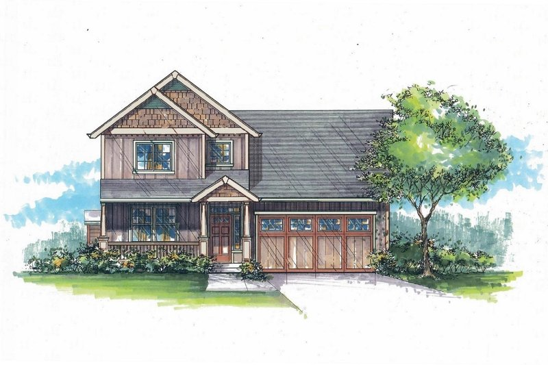 Dream House Plan - Craftsman Exterior - Front Elevation Plan #53-472