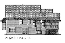 Dream House Plan - Traditional Exterior - Rear Elevation Plan #70-260