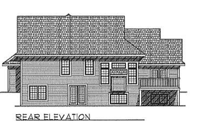 Traditional Exterior - Rear Elevation Plan #70-260 - Houseplans.com