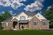 Traditional Style House Plan - 4 Beds 3.5 Baths 2495 Sq/Ft Plan #20-2126 Exterior - Front Elevation