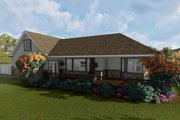 Ranch Style House Plan - 2 Beds 2 Baths 1767 Sq/Ft Plan #1060-2 Exterior - Rear Elevation