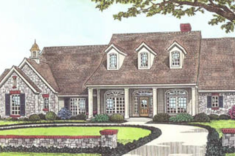 Traditional Exterior - Front Elevation Plan #310-549 - Houseplans.com