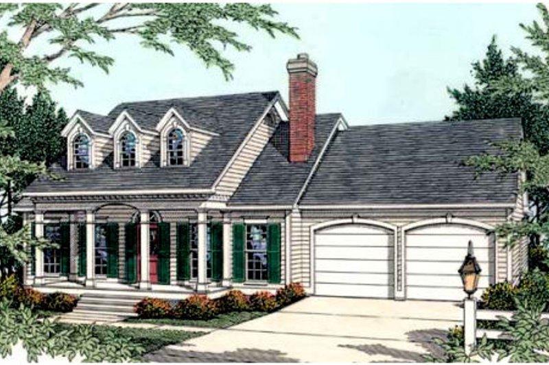 Architectural House Design - Farmhouse Exterior - Front Elevation Plan #406-236