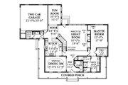 Southern Style House Plan - 4 Beds 3.5 Baths 3321 Sq/Ft Plan #456-14 Floor Plan - Main Floor Plan