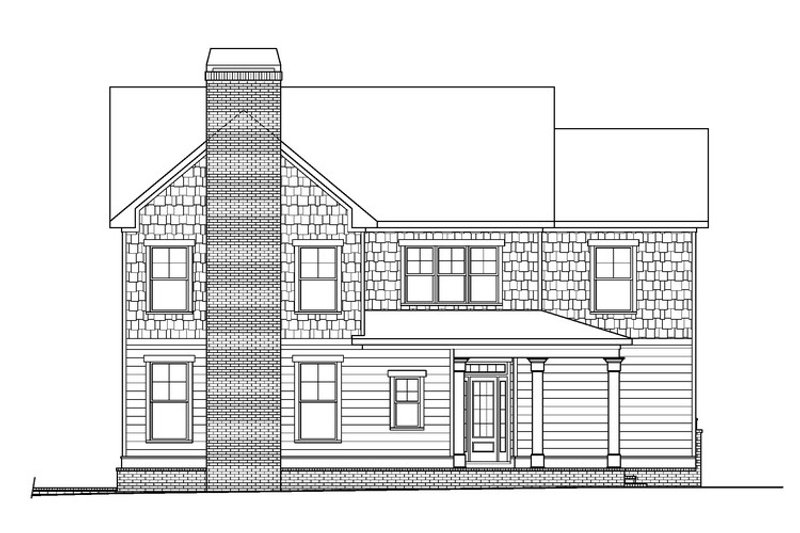 Traditional Exterior - Front Elevation Plan #419-312 - Houseplans.com