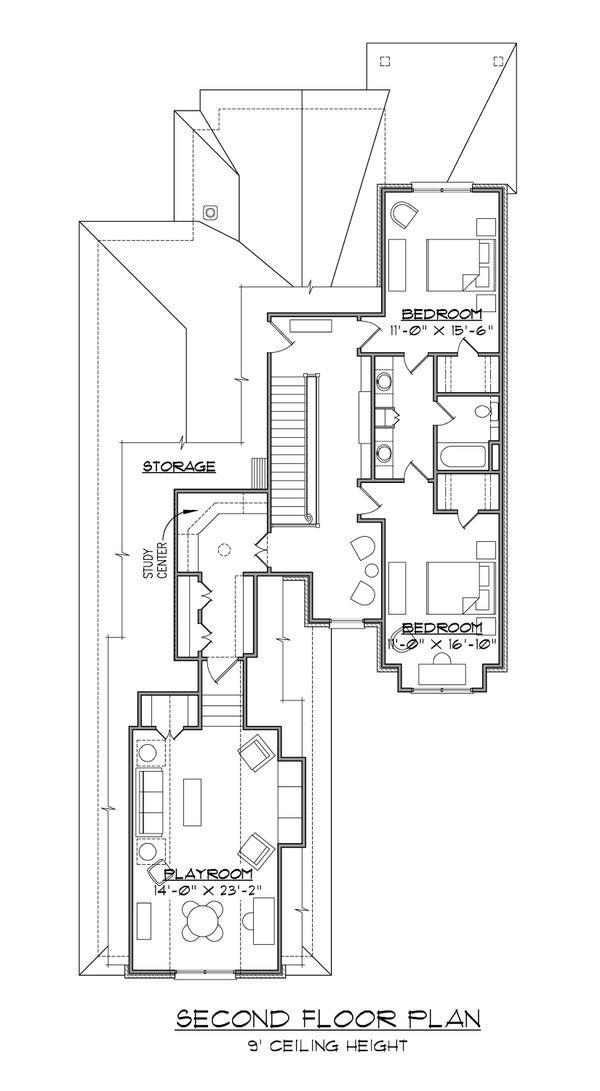 House Plan Design - Traditional Floor Plan - Upper Floor Plan #1054-74