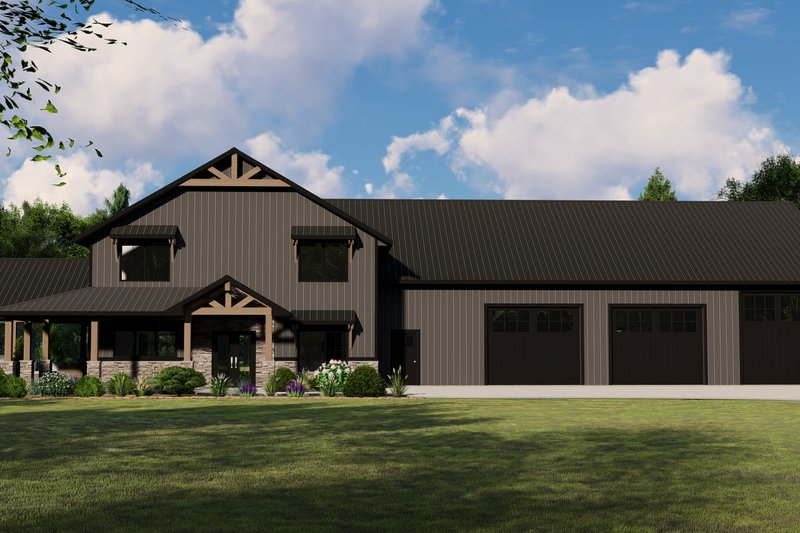 Home Plan - Farmhouse Exterior - Front Elevation Plan #1064-110