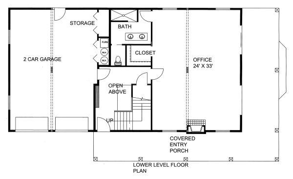 Contemporary Floor Plan - Lower Floor Plan Plan #117-885