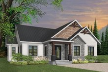 Home Plan - Craftsman Exterior - Front Elevation Plan #23-2667