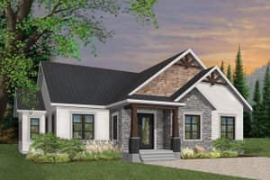 House Plan Design - Craftsman Exterior - Front Elevation Plan #23-2667