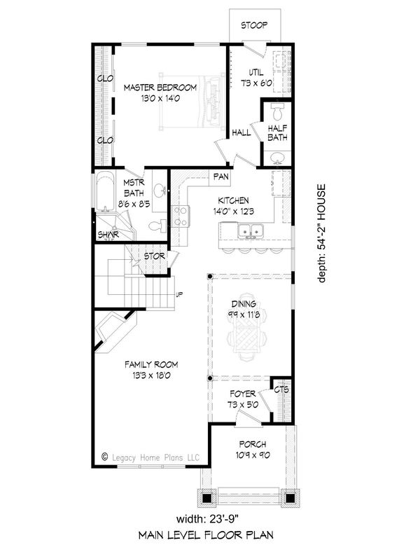 Craftsman Floor Plan - Main Floor Plan Plan #932-249
