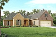 European Style House Plan - 4 Beds 2 Baths 2180 Sq/Ft Plan #430-121 Exterior - Front Elevation